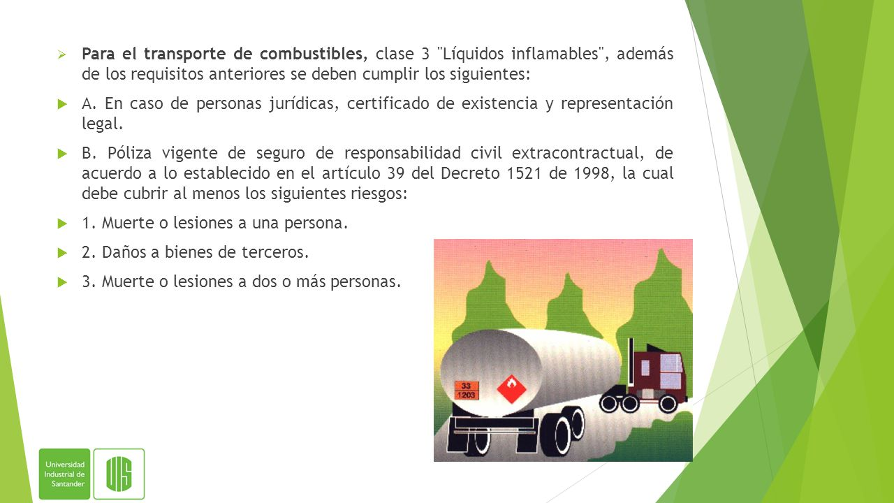 Manejo y transporte terrestre automotor de mercanc as for Certificado de gas para autocaravanas
