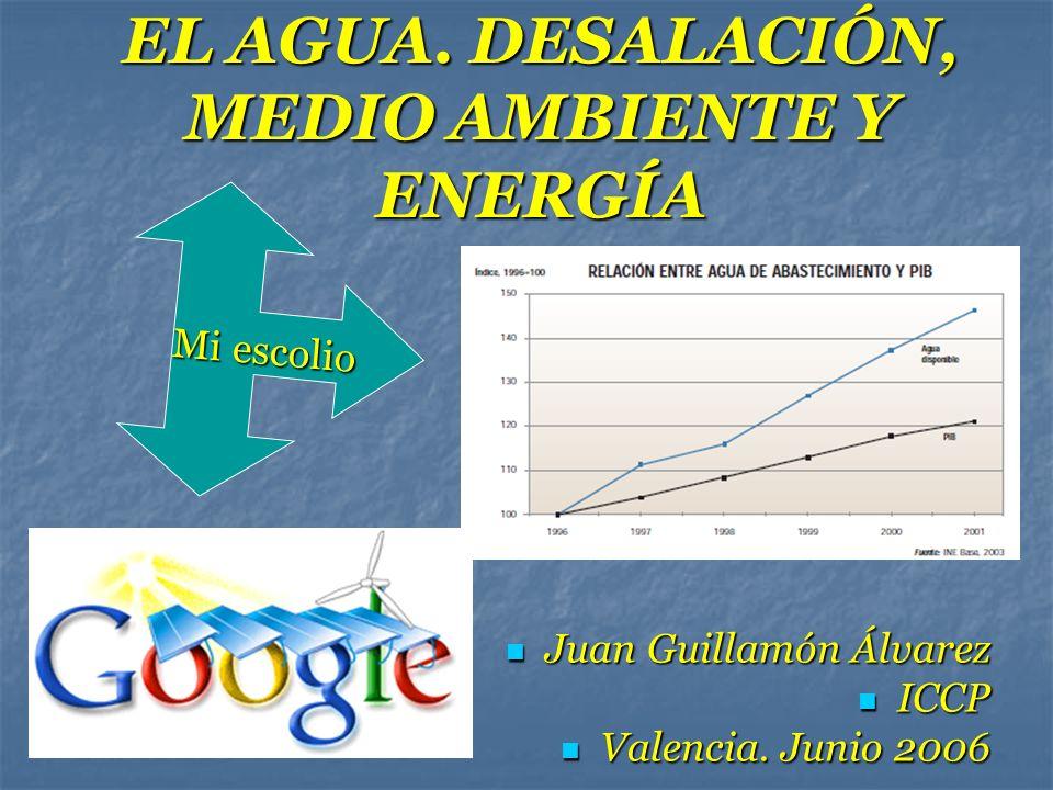 EL AGUA. DESALACIÓN, MEDIO AMBIENTE Y ENERGÍA