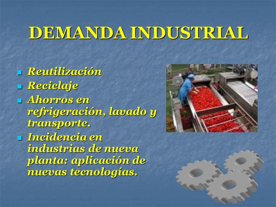DEMANDA INDUSTRIAL Reutilización Reciclaje