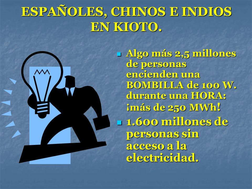ESPAÑOLES, CHINOS E INDIOS EN KIOTO.