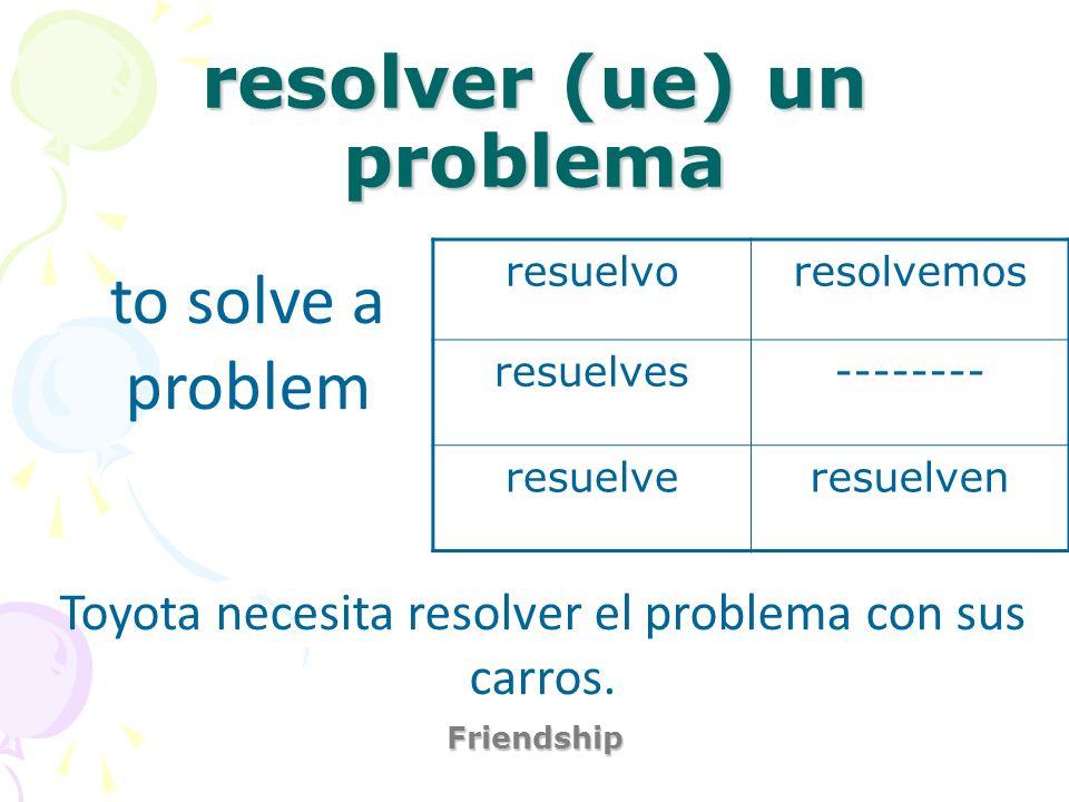 resolver (ue) un problema