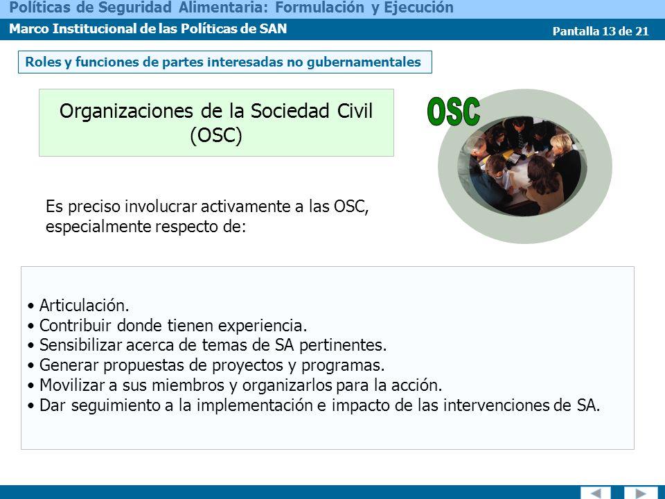 Organizaciones de la Sociedad Civil (OSC)