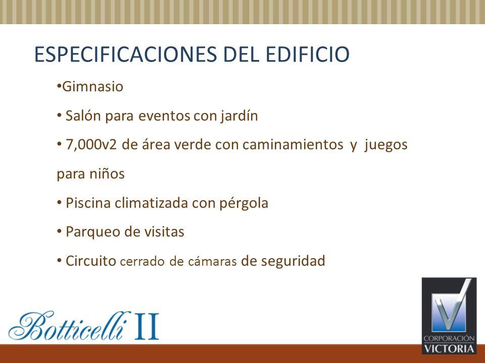 ESPECIFICACIONES DEL EDIFICIO