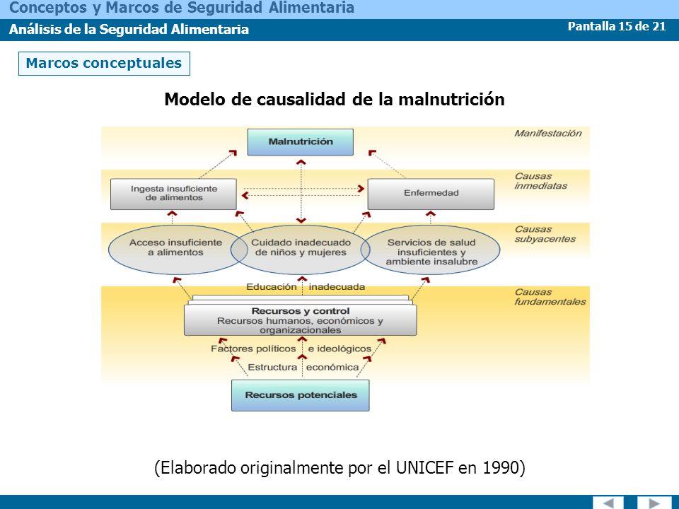 Modelo de causalidad de la malnutrición