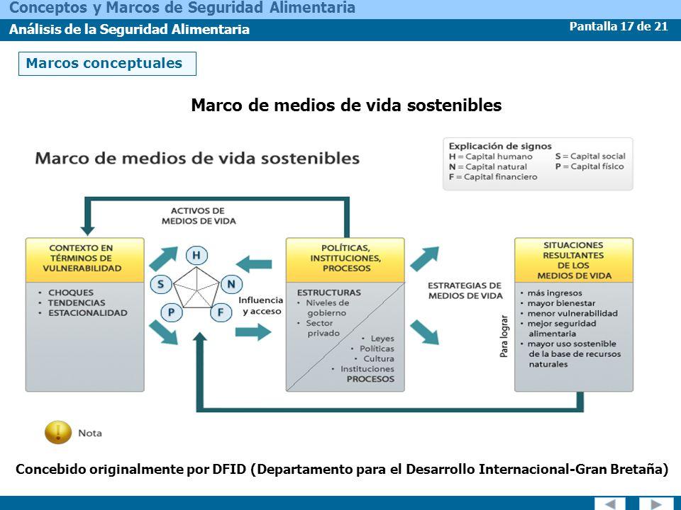 Marco de medios de vida sostenibles