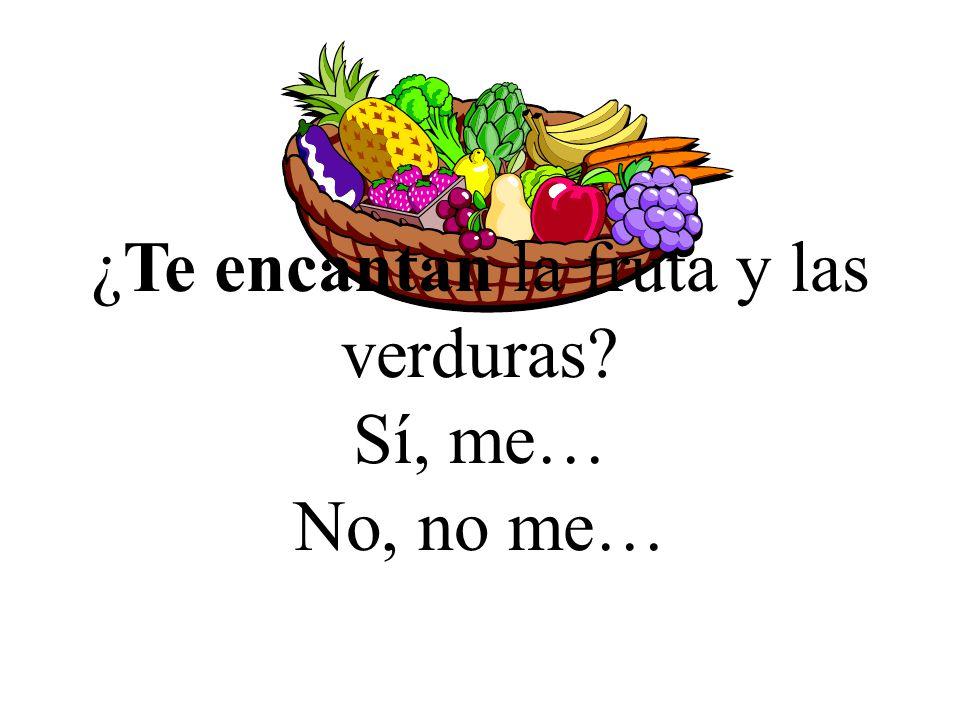 ¿Te encantan la fruta y las verduras
