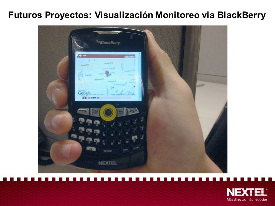 Futuros Proyectos: Visualización Monitoreo via BlackBerry