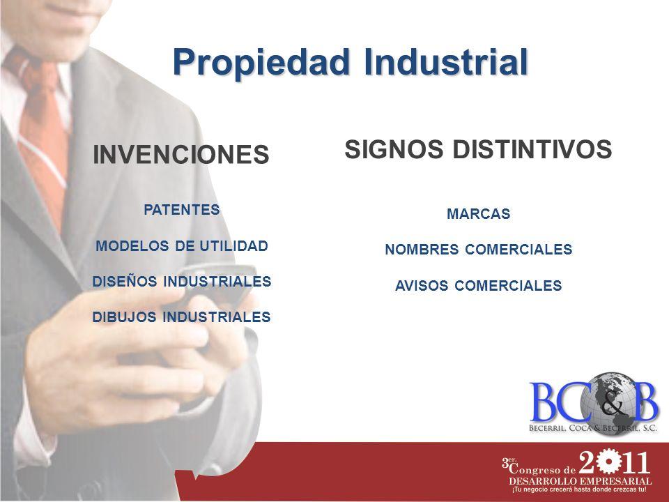 Propiedad Industrial SIGNOS DISTINTIVOS INVENCIONES PATENTES MARCAS