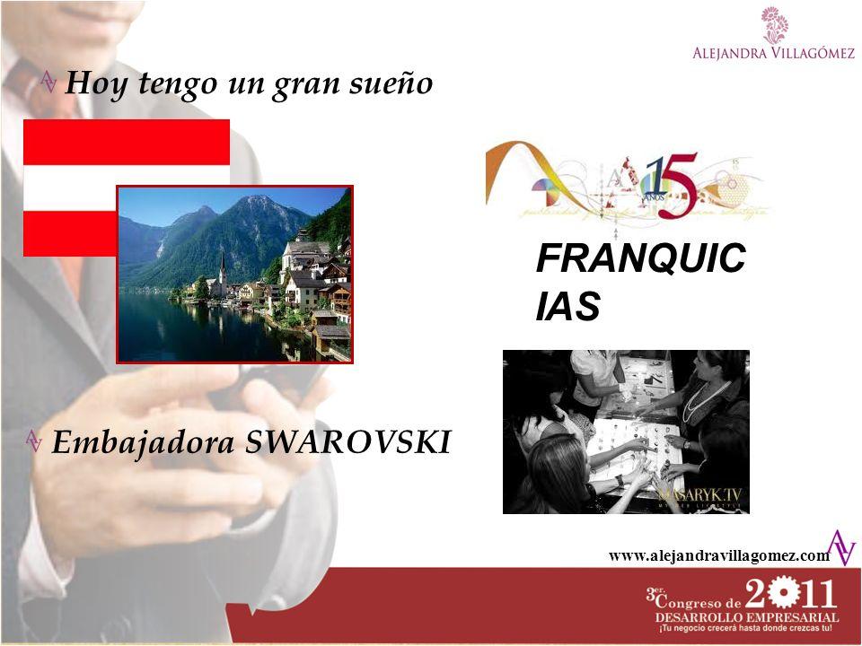 FRANQUICIAS Hoy tengo un gran sueño Embajadora SWAROVSKI