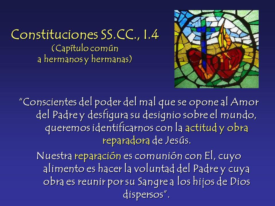 Constituciones SS.CC., I.4 (Capítulo común a hermanos y hermanas)