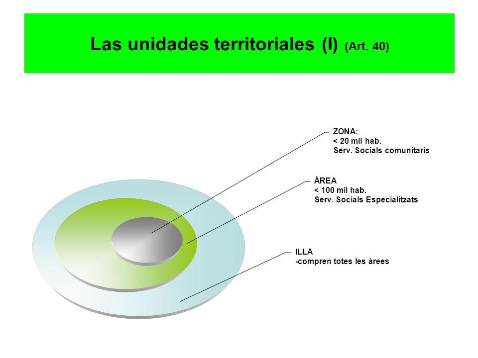 Las unidades territoriales (I) (Art. 40)