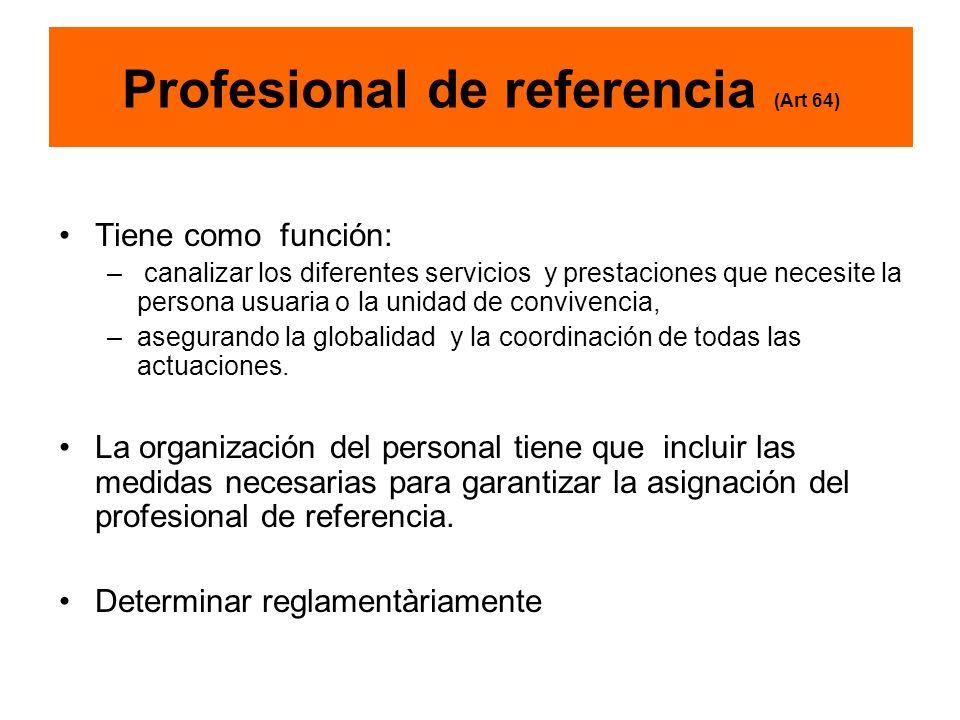 Profesional de referencia (Art 64)