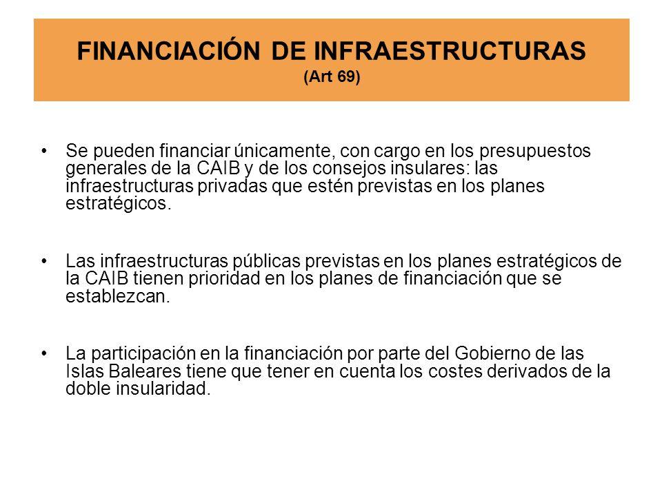 FINANCIACIÓN DE INFRAESTRUCTURAS (Art 69)