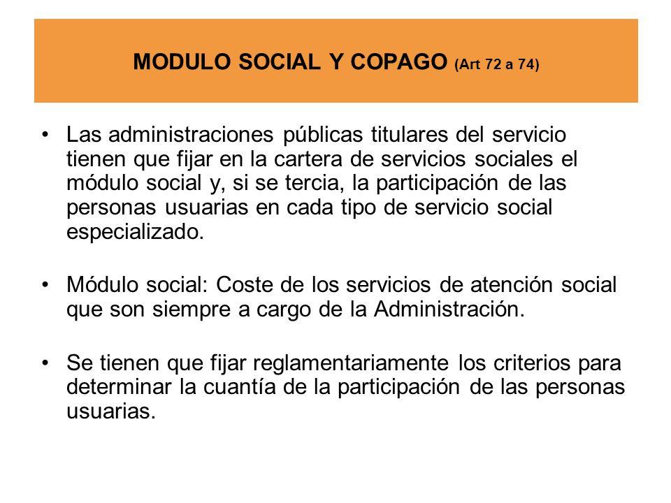 MODULO SOCIAL Y COPAGO (Art 72 a 74)