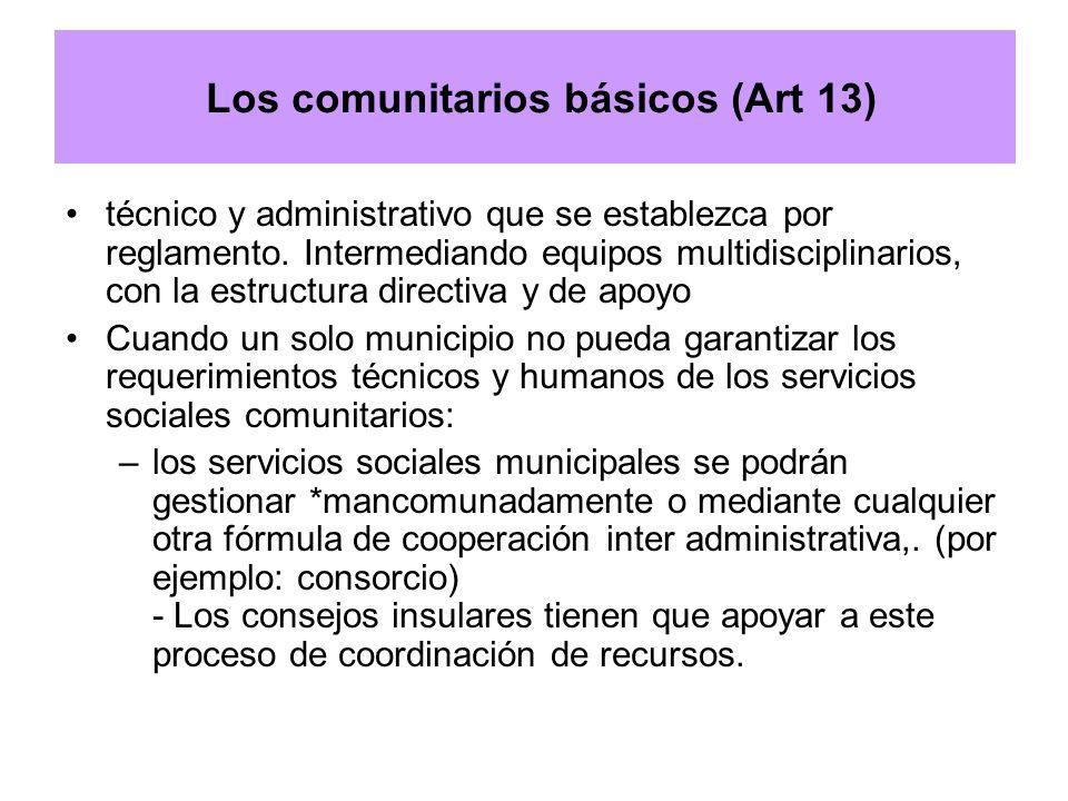 Los comunitarios básicos (Art 13)