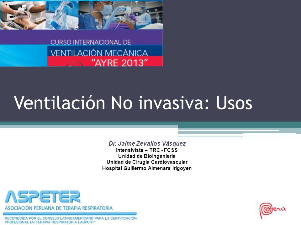 Ventilación No invasiva: Usos