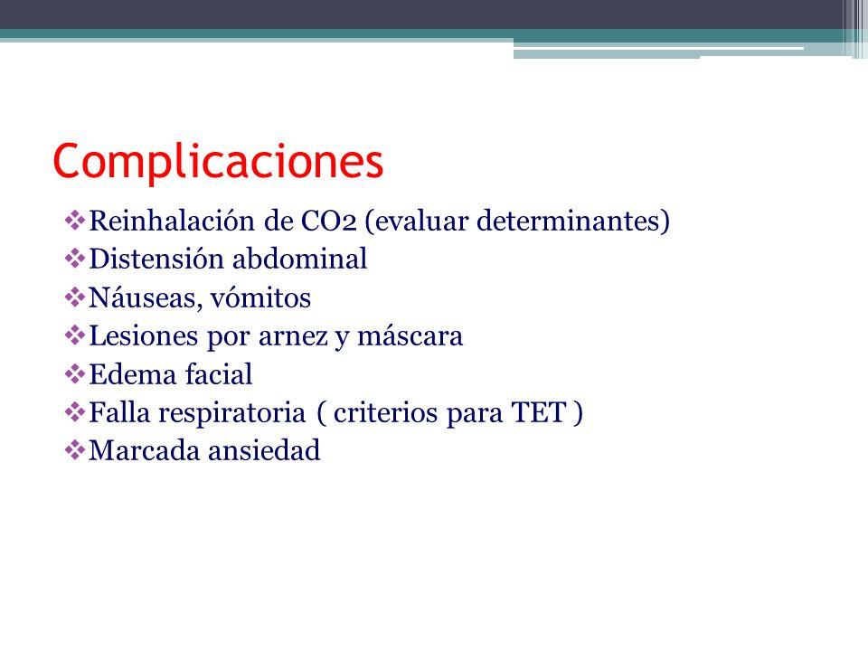 Complicaciones Reinhalación de CO2 (evaluar determinantes)