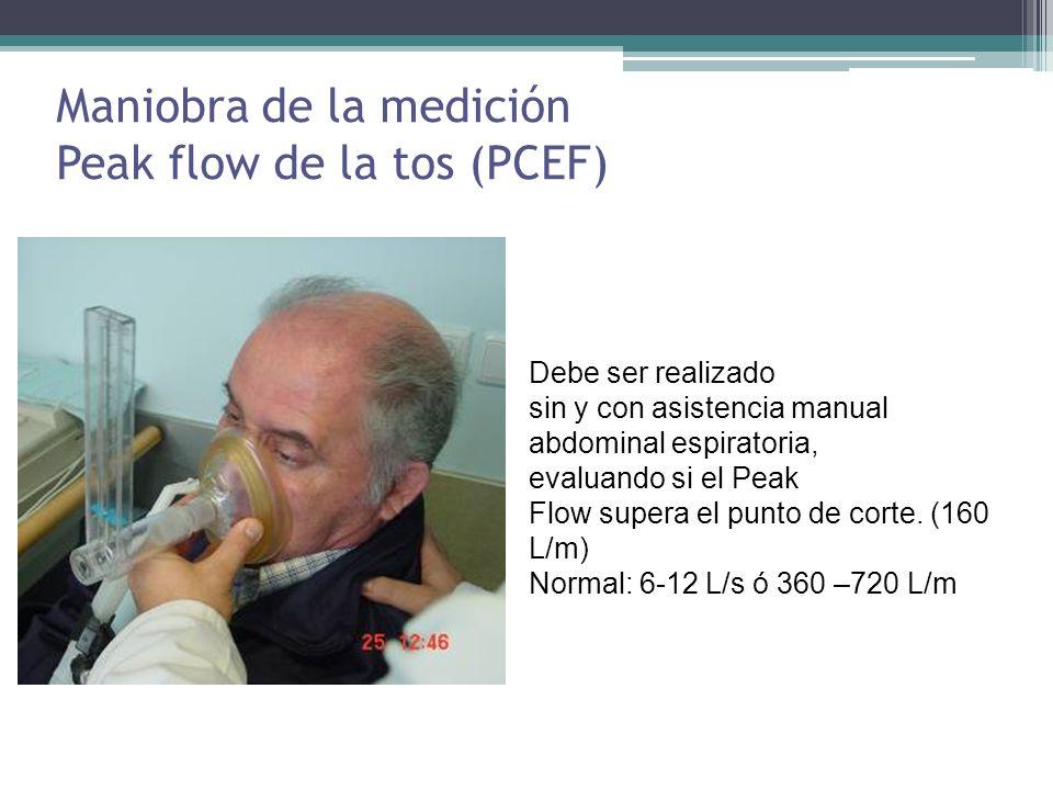 Maniobra de la medición Peak flow de la tos (PCEF)