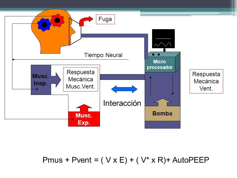 Pmus + Pvent = ( V x E) + ( V* x R)+ AutoPEEP