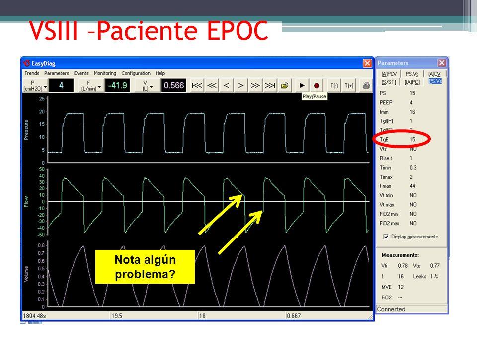 VSIII –Paciente EPOC Nota algún problema