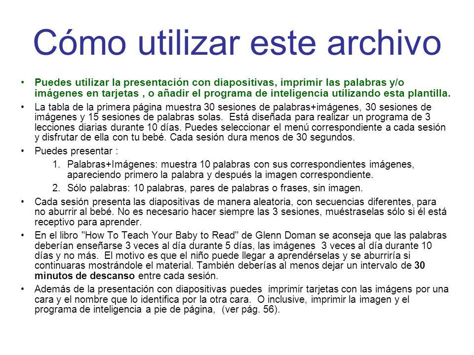Cómo utilizar este archivo