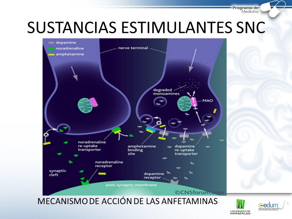 SUSTANCIAS ESTIMULANTES SNC