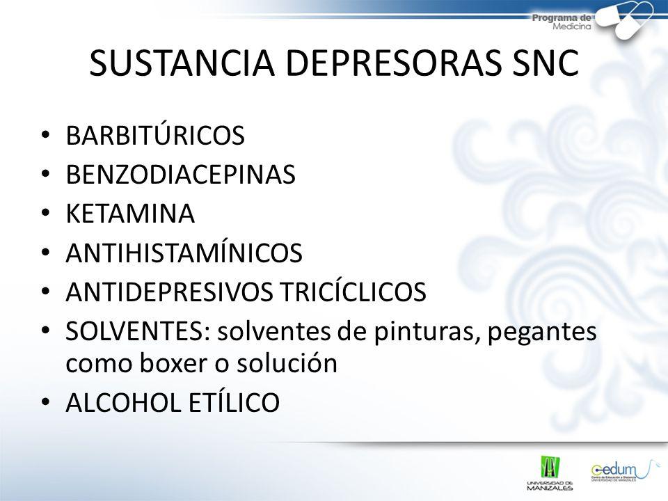 SUSTANCIA DEPRESORAS SNC
