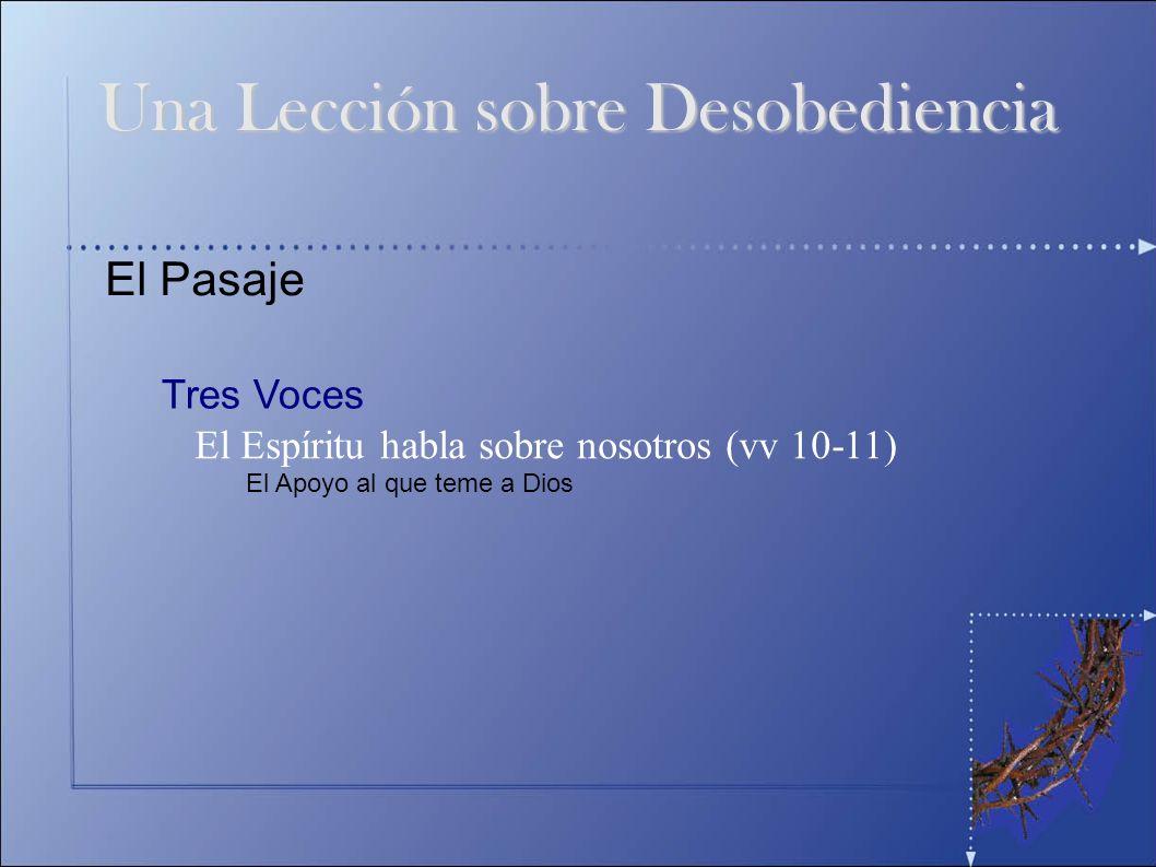 Una Lección sobre Desobediencia