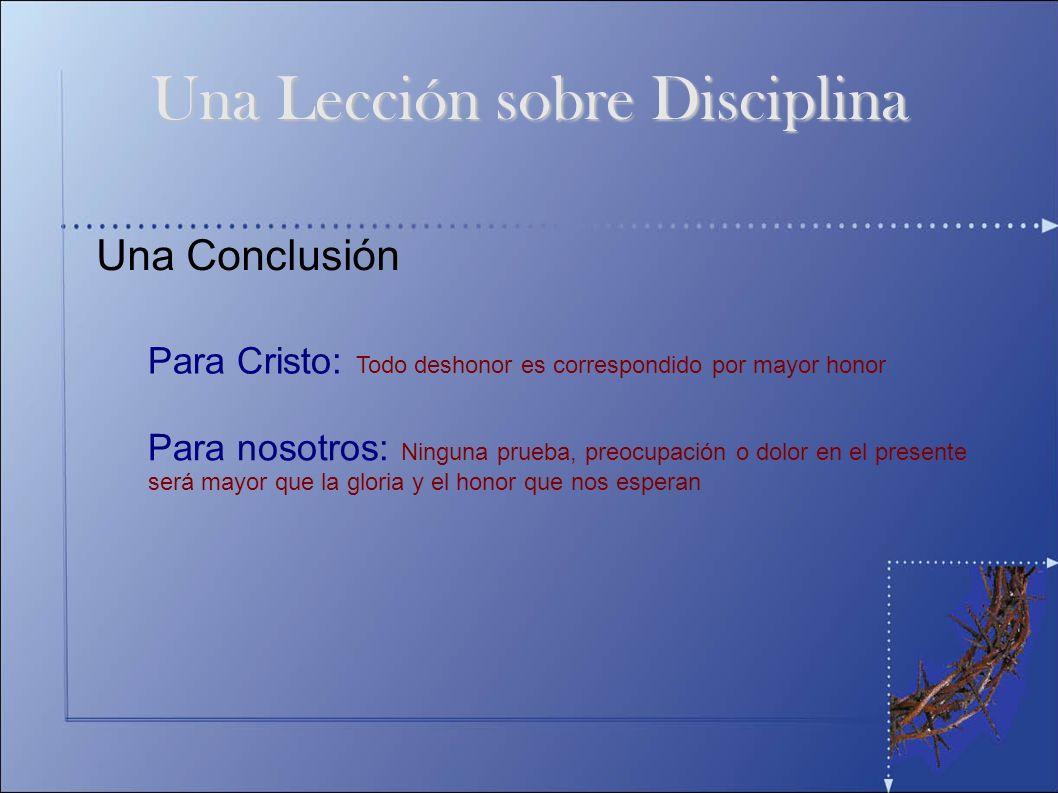 Una Lección sobre Disciplina