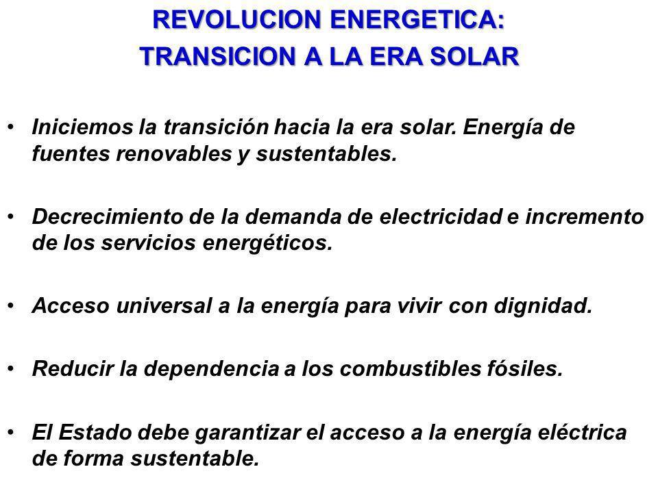 REVOLUCION ENERGETICA: TRANSICION A LA ERA SOLAR