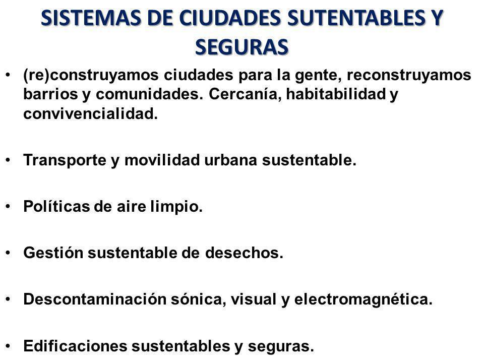 SISTEMAS DE CIUDADES SUTENTABLES Y SEGURAS
