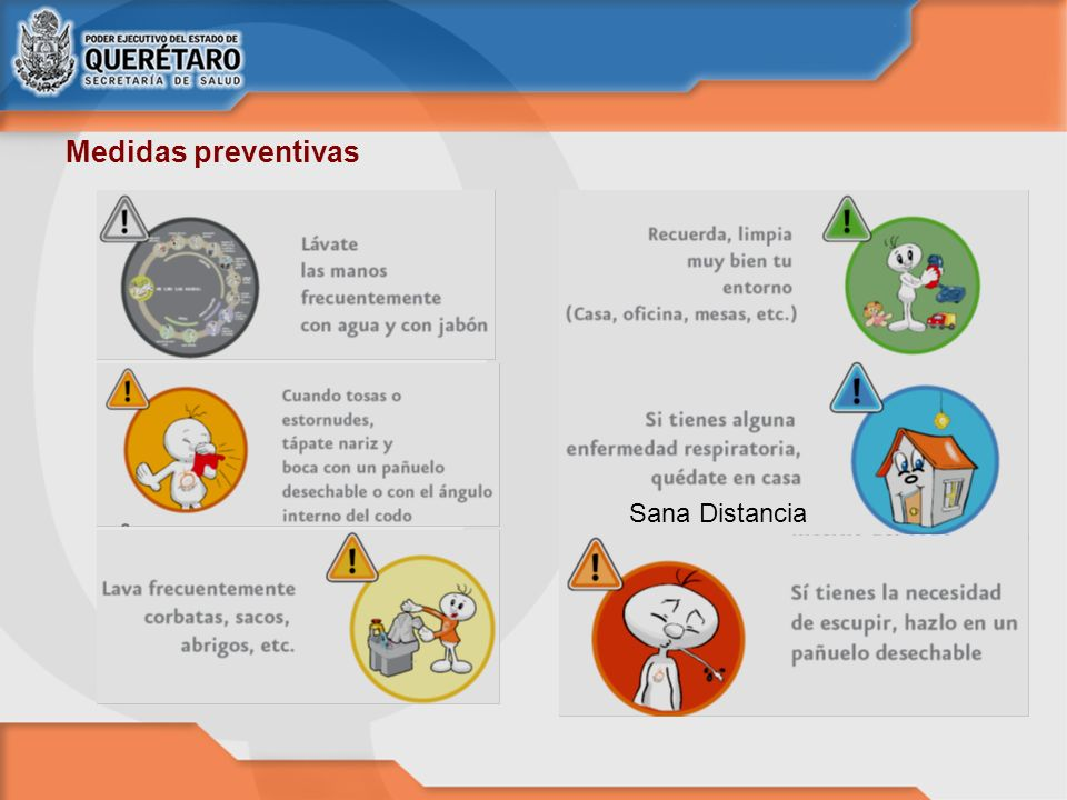 Medidas preventivas Sana Distancia