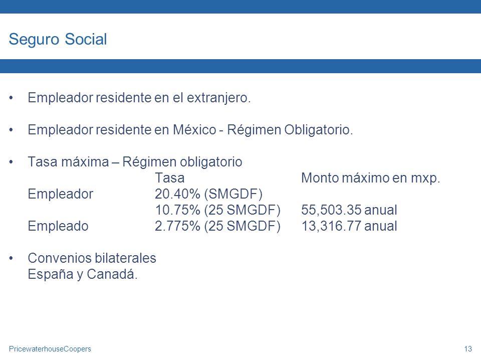 Seguro Social Empleador residente en el extranjero.