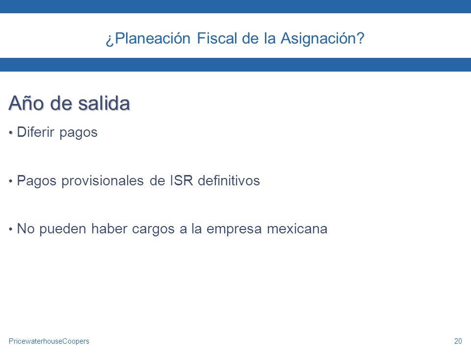 ¿Planeación Fiscal de la Asignación