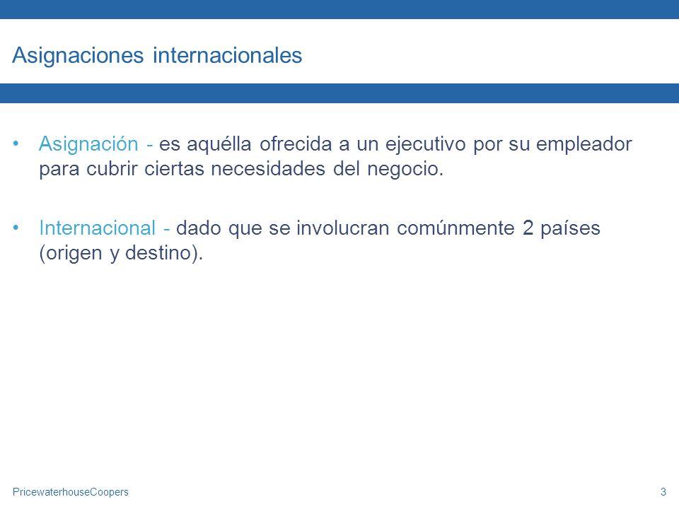 Asignaciones internacionales