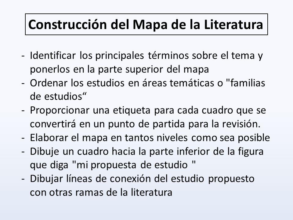 Construcción del Mapa de la Literatura