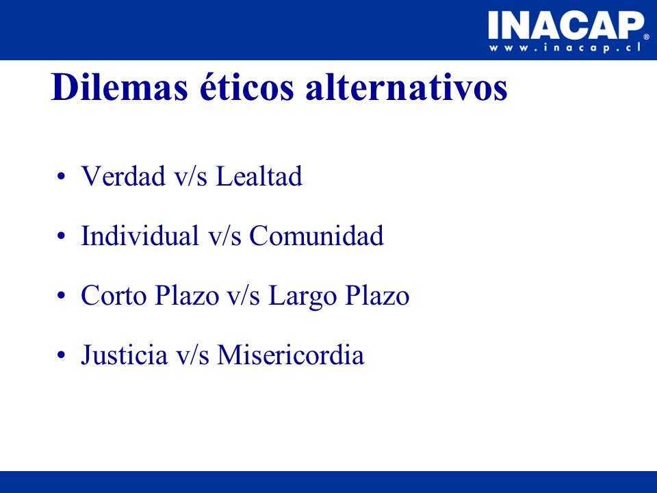 Dilemas éticos alternativos