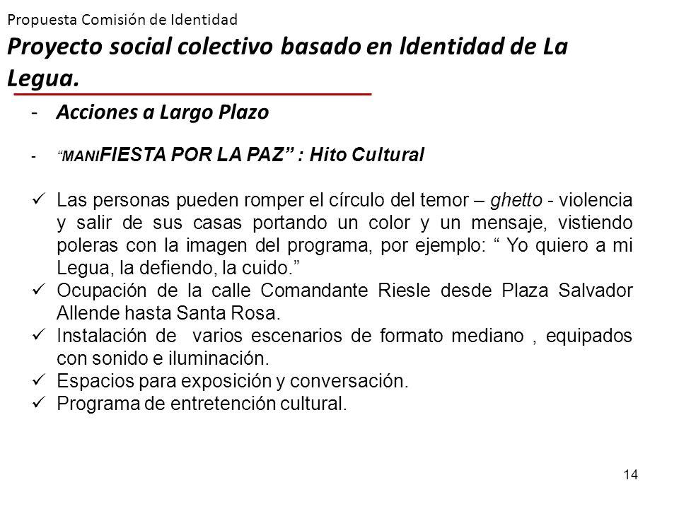 Propuesta Comisión de Identidad Proyecto social colectivo basado en ldentidad de La Legua.