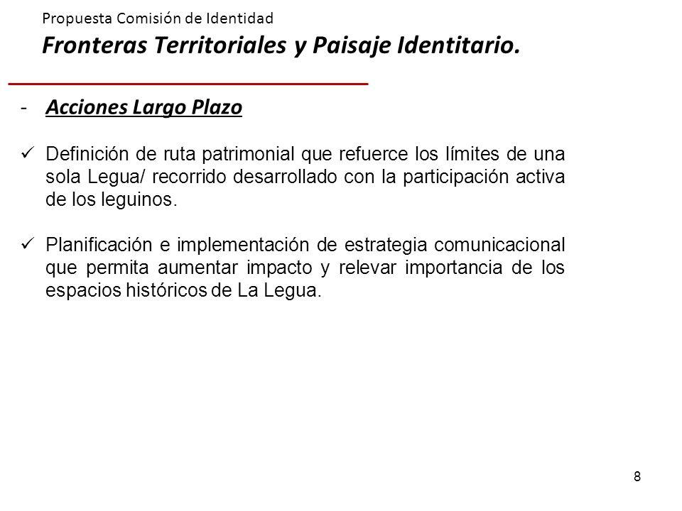 Propuesta Comisión de Identidad Fronteras Territoriales y Paisaje Identitario.