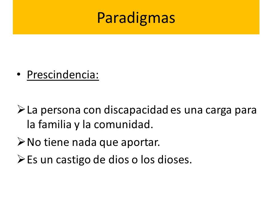 Paradigmas Prescindencia: