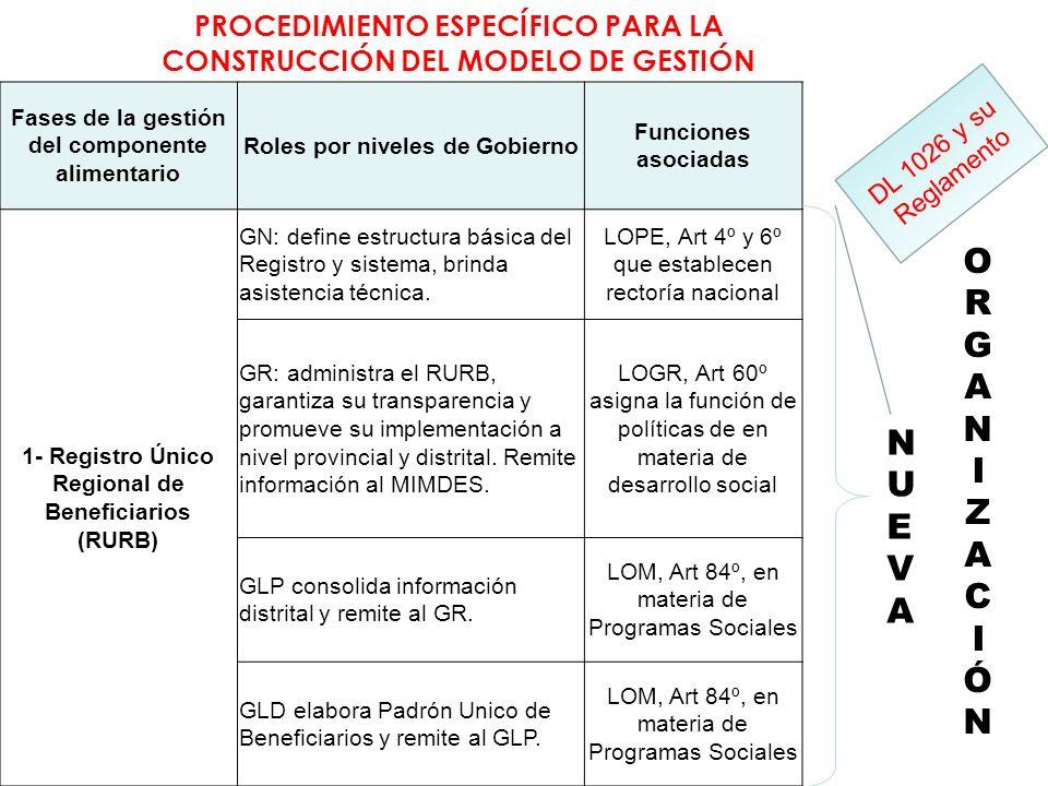 PROCEDIMIENTO ESPECÍFICO PARA LA CONSTRUCCIÓN DEL MODELO DE GESTIÓN