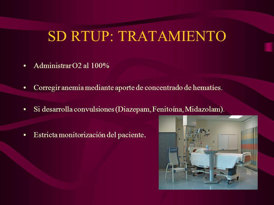 SD RTUP: TRATAMIENTO Administrar O2 al 100%