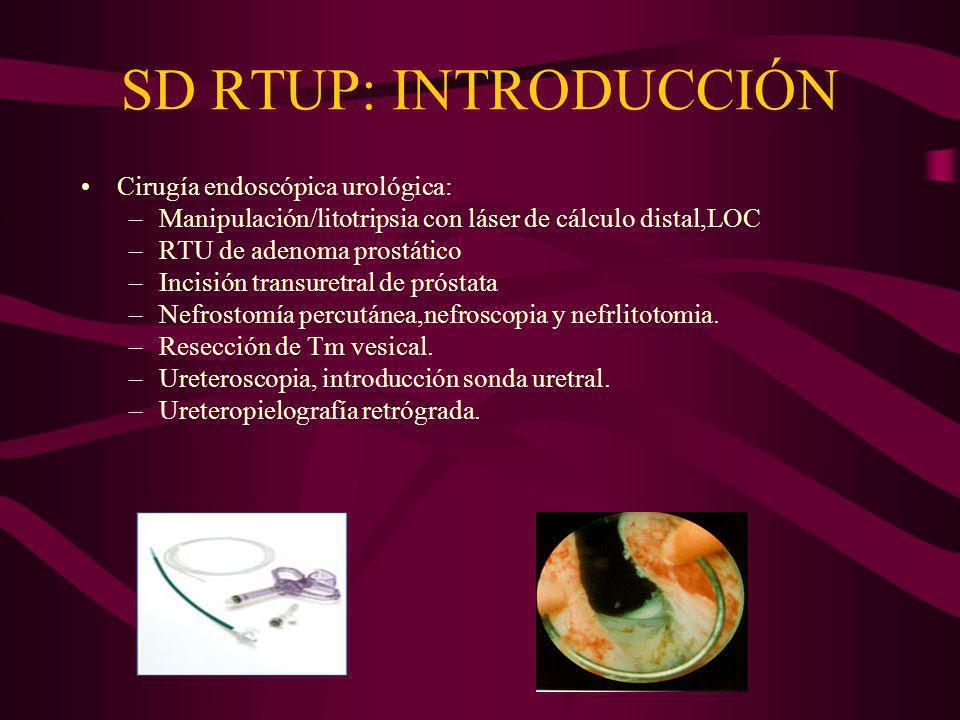 SD RTUP: INTRODUCCIÓN Cirugía endoscópica urológica: