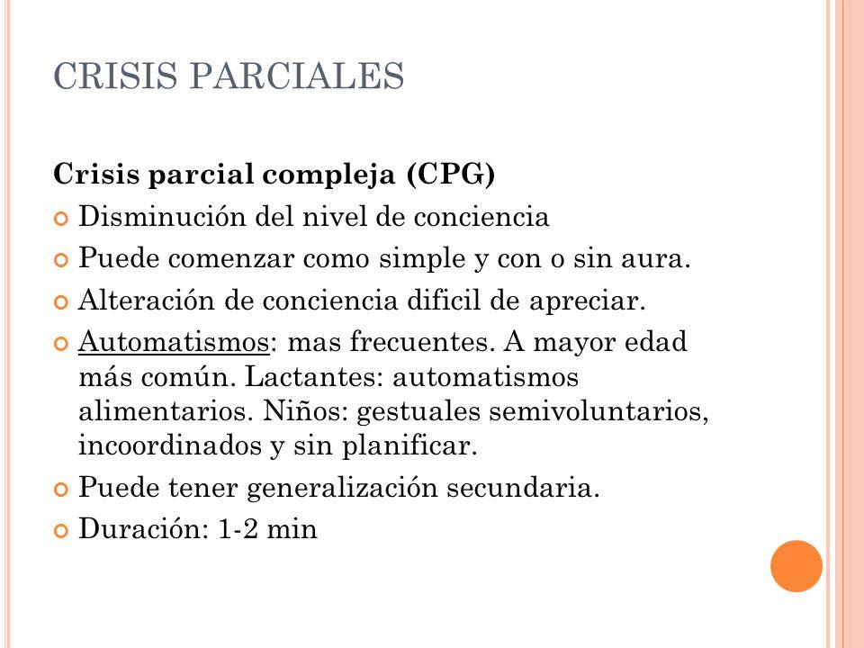 CRISIS PARCIALES Crisis parcial compleja (CPG)