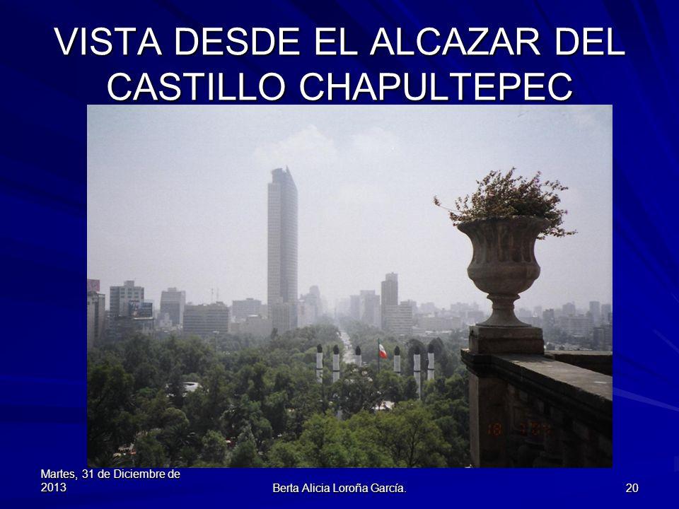 VISTA DESDE EL ALCAZAR DEL CASTILLO CHAPULTEPEC