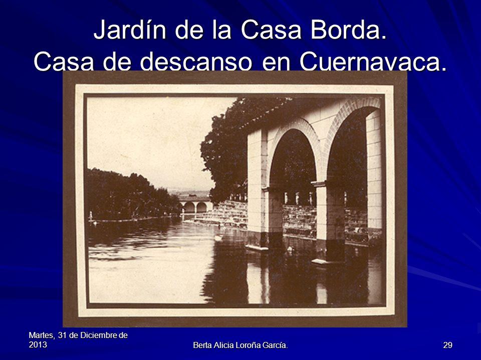 Jardín de la Casa Borda. Casa de descanso en Cuernavaca.