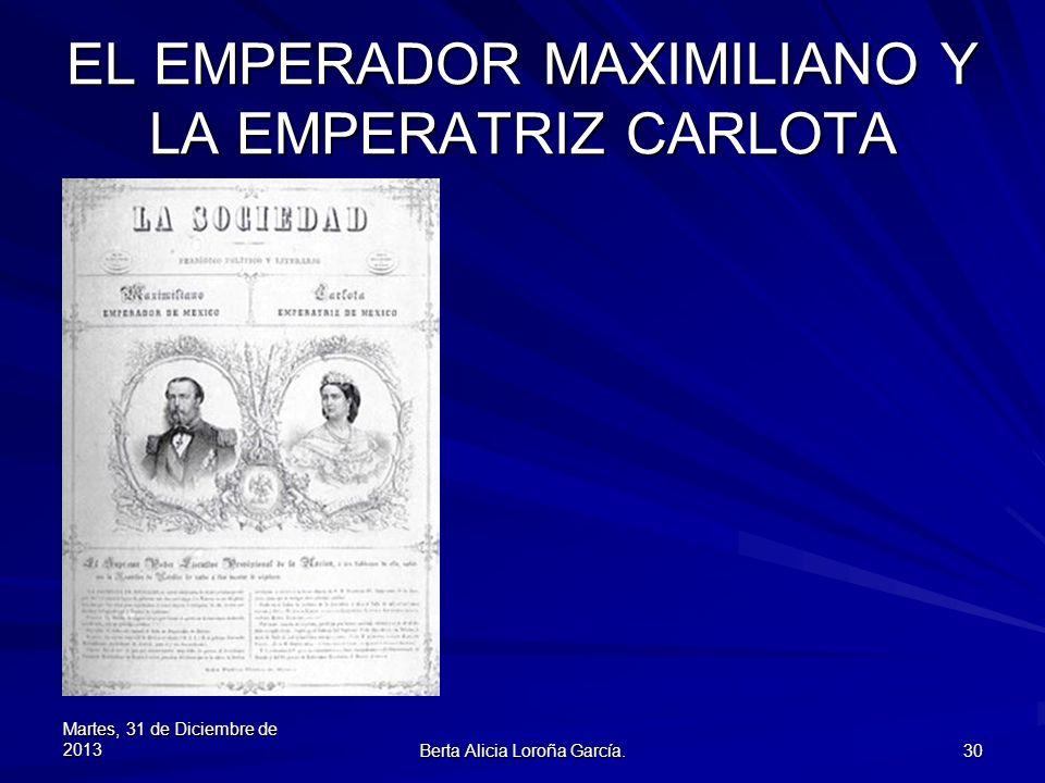 EL EMPERADOR MAXIMILIANO Y LA EMPERATRIZ CARLOTA