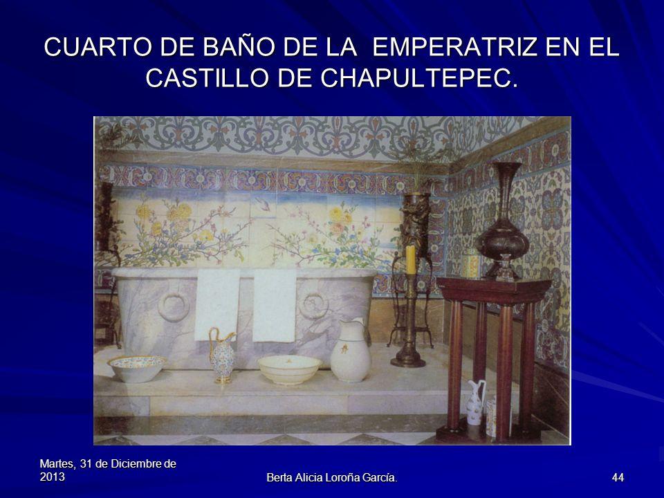 CUARTO DE BAÑO DE LA EMPERATRIZ EN EL CASTILLO DE CHAPULTEPEC.