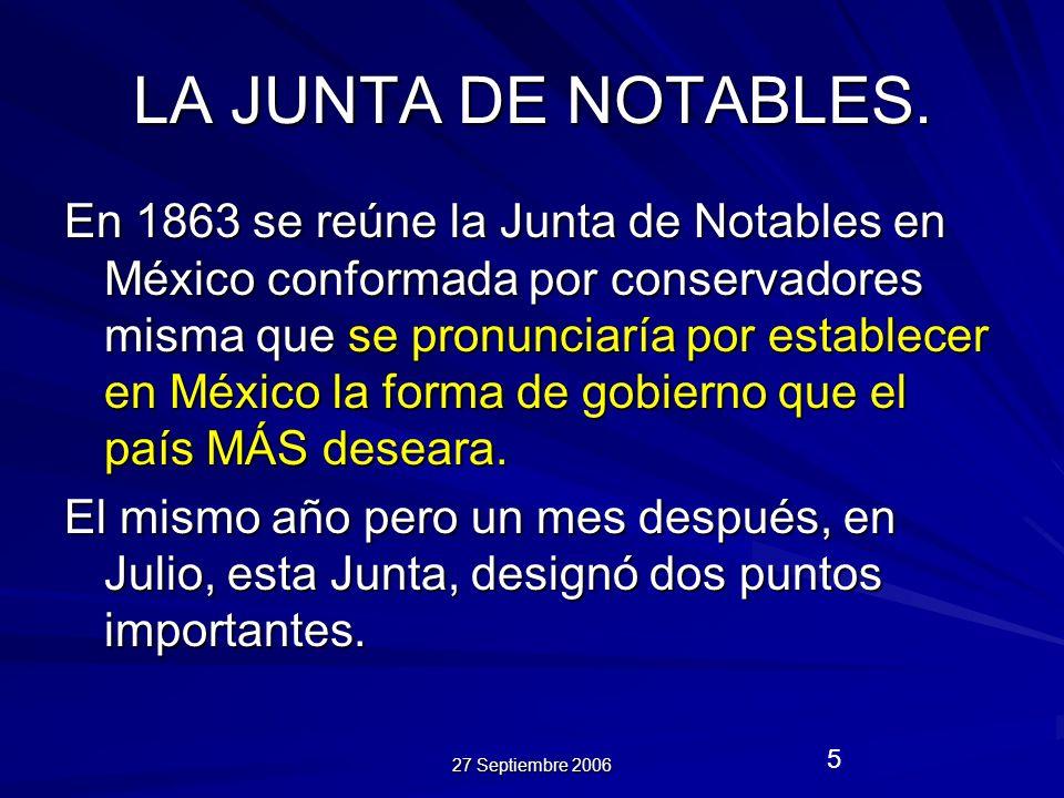 LA JUNTA DE NOTABLES.