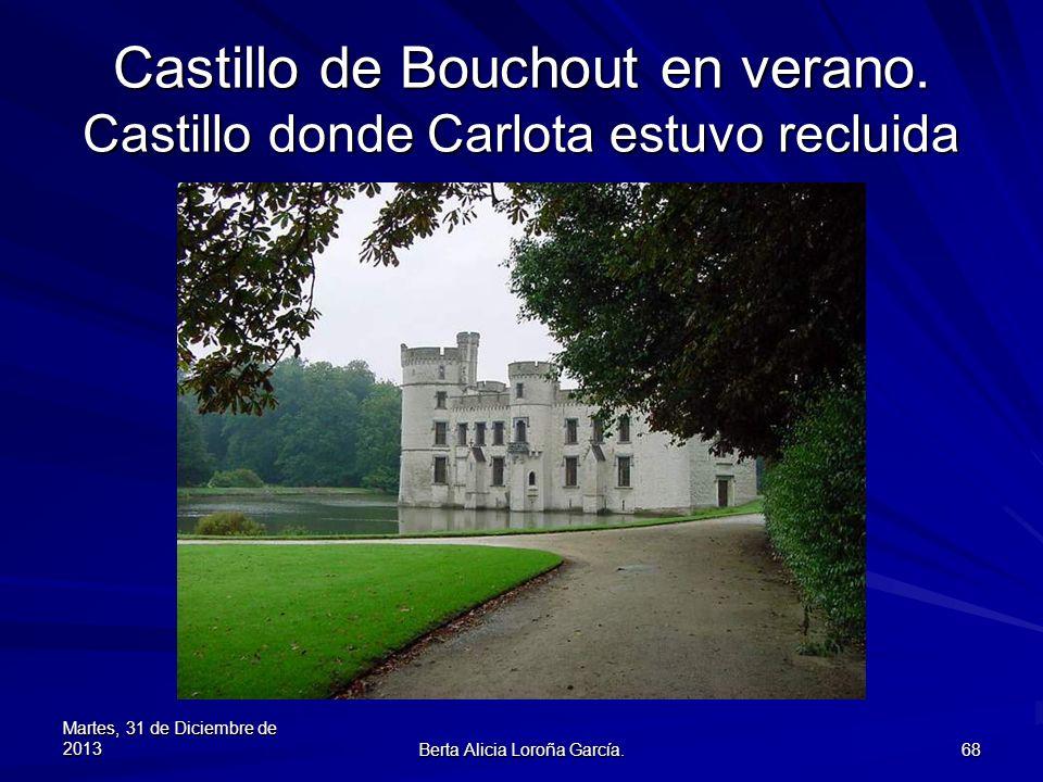 Castillo de Bouchout en verano. Castillo donde Carlota estuvo recluida